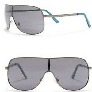 Joe's Jeans Oversized Shield Sunglasses Gunmetal